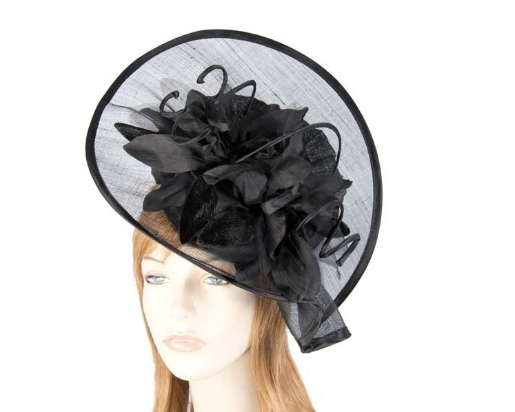 Black spring racing hat by Fillies Collection