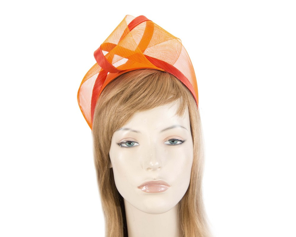 Orange fashion headband turban by Fillies Collection