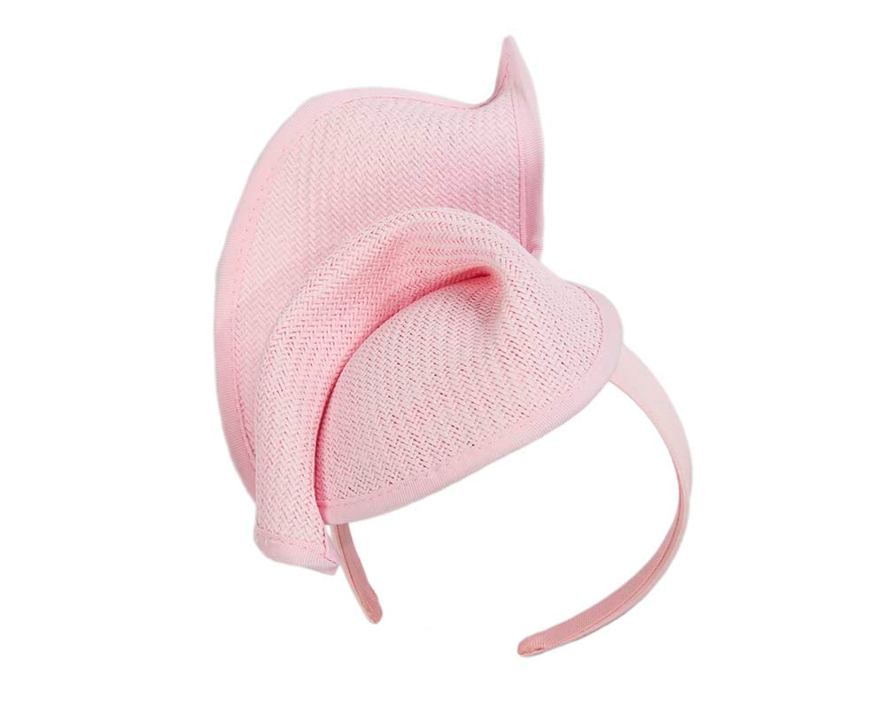 Soft pink fashion racing pillbox fascinator hat by Max Alexander