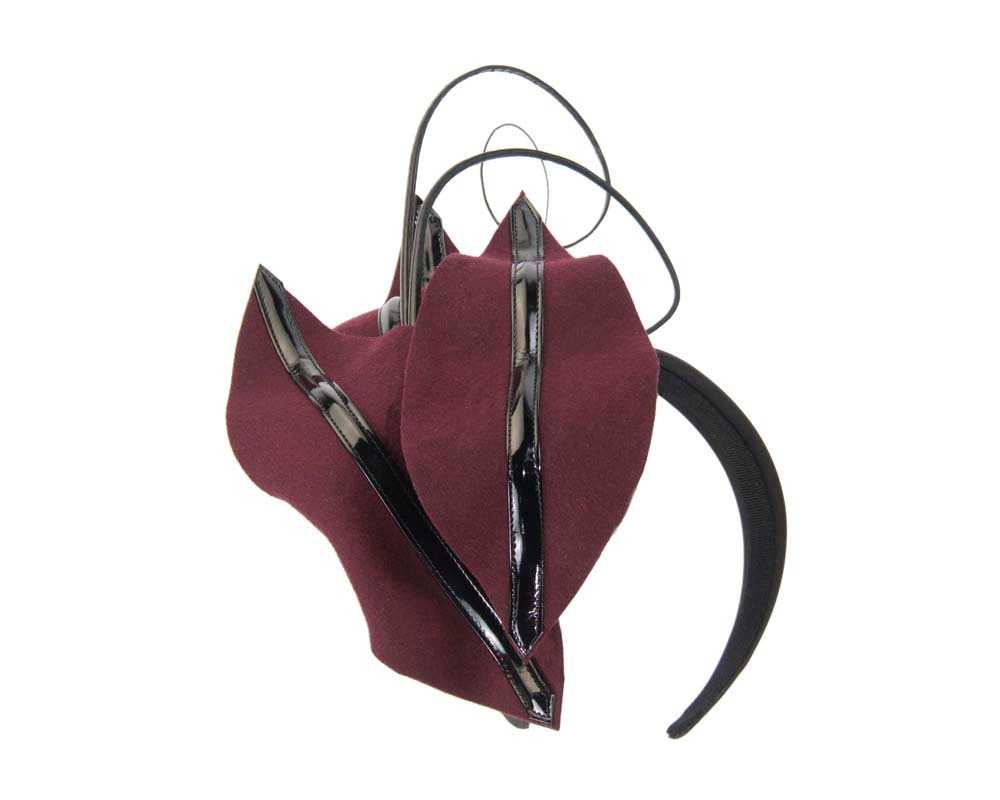 Wine felt winter fascinator