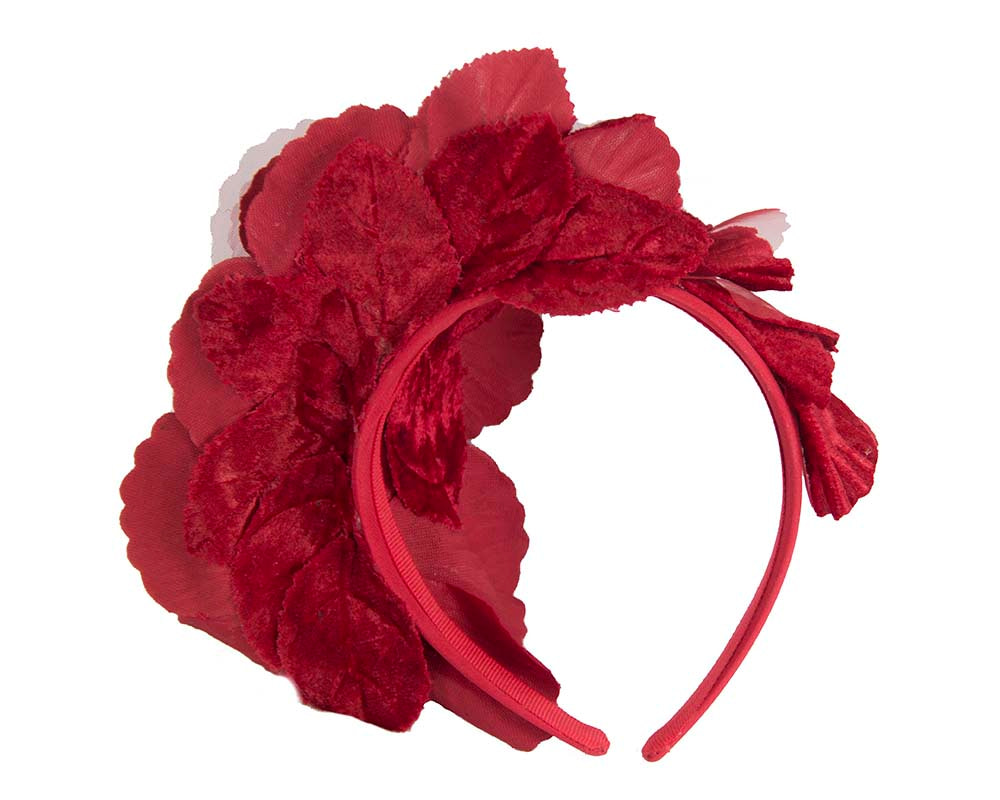 Red Flower Fascinator Headband