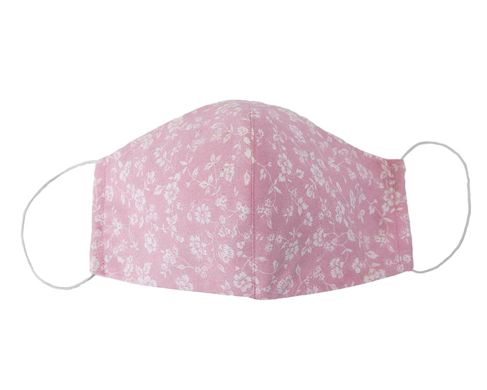 Comfortable re-usable pink face mask
