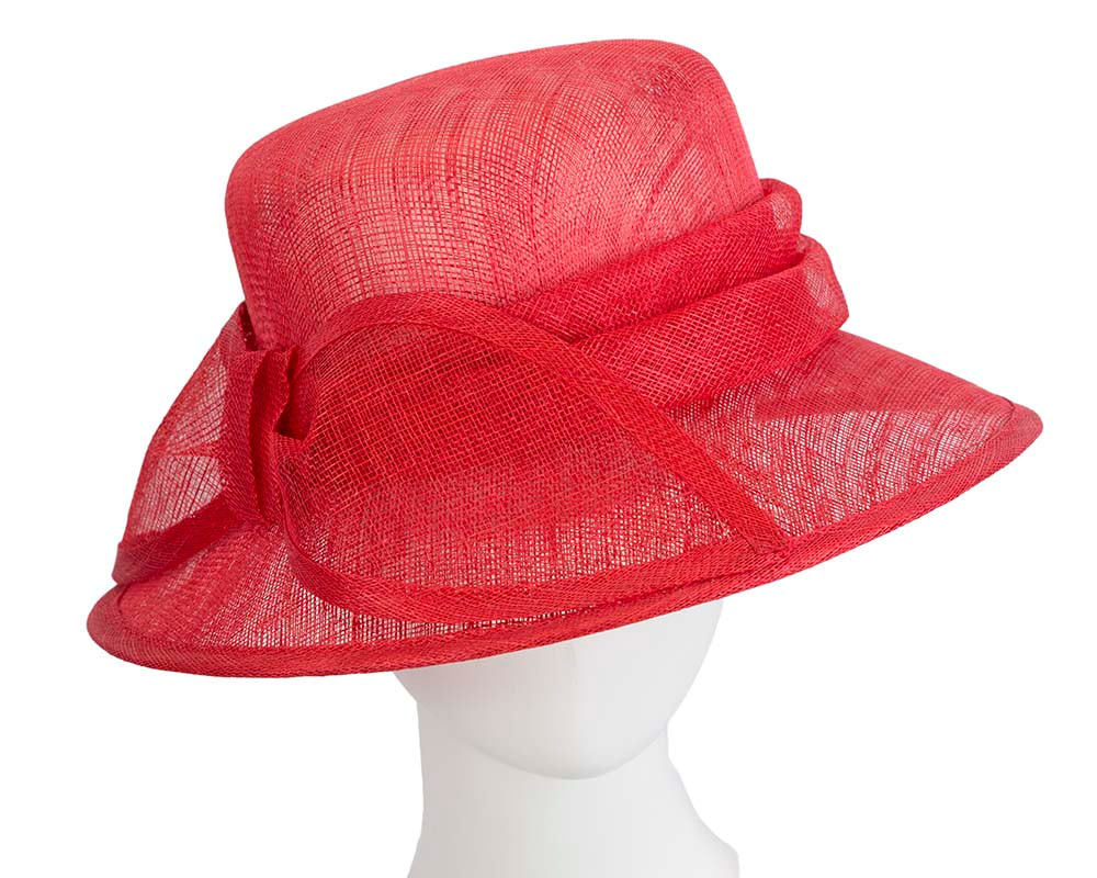 Red Ladies Fashion Bucket Hat for Ascot