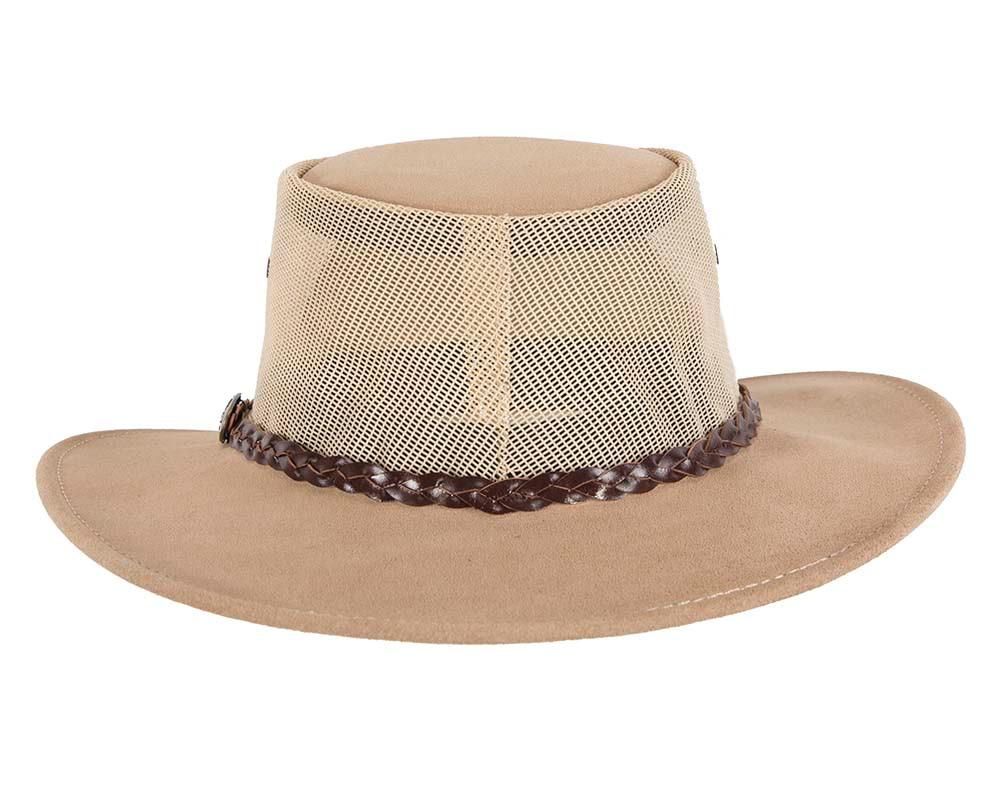 Beige Sand Australian Suede Leather Cooler Jacaru Hat