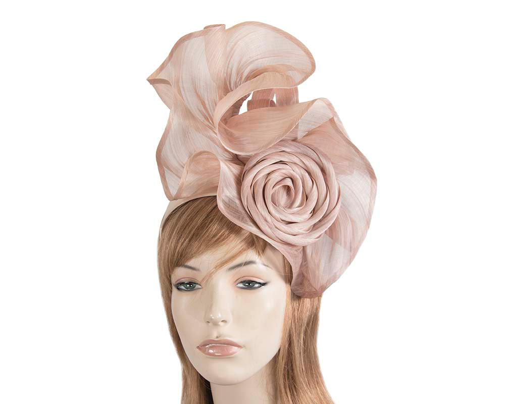 Twisted blush designers fascinator by Fillies Collection
