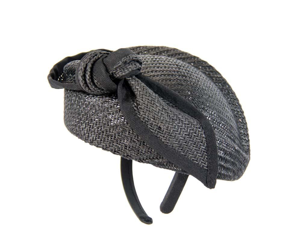 Black pillbox with bow