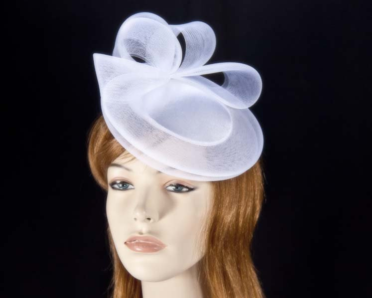 White Wedding Cocktail Hat