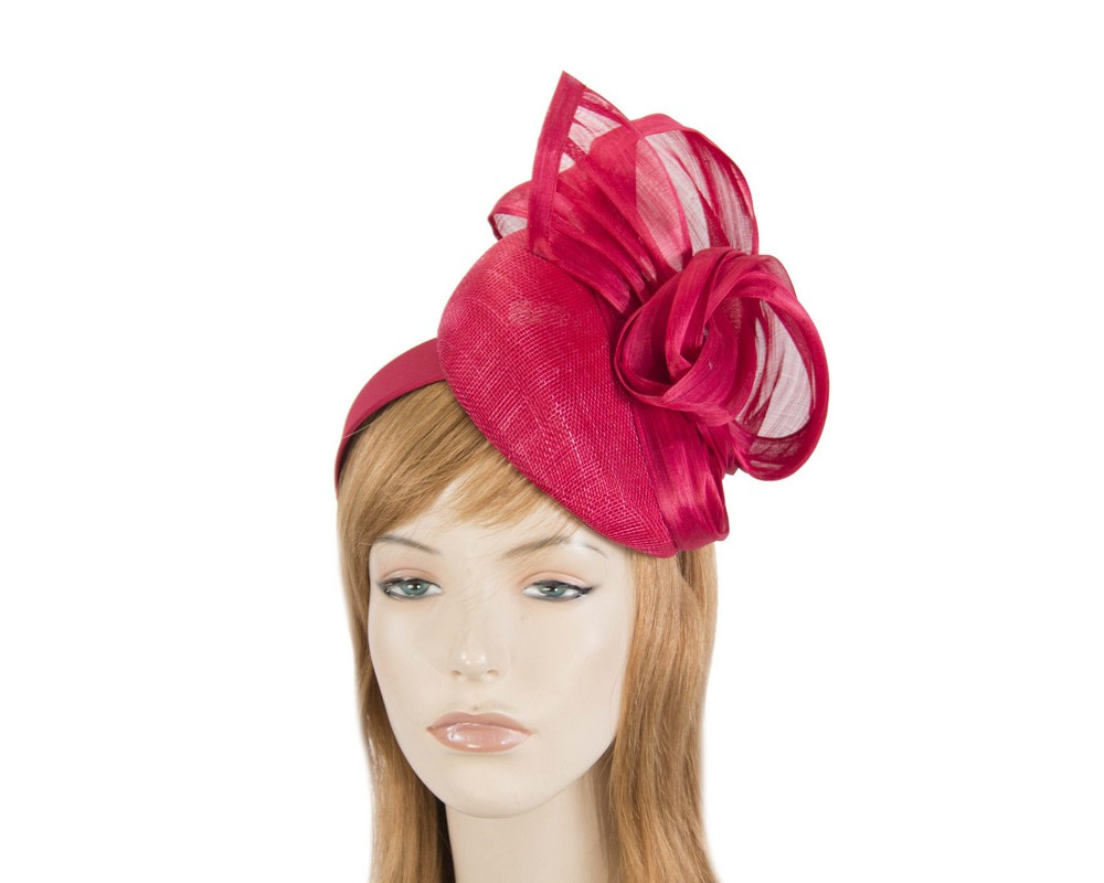 Elegant red pillbox racing fascinator by Fillies Collection