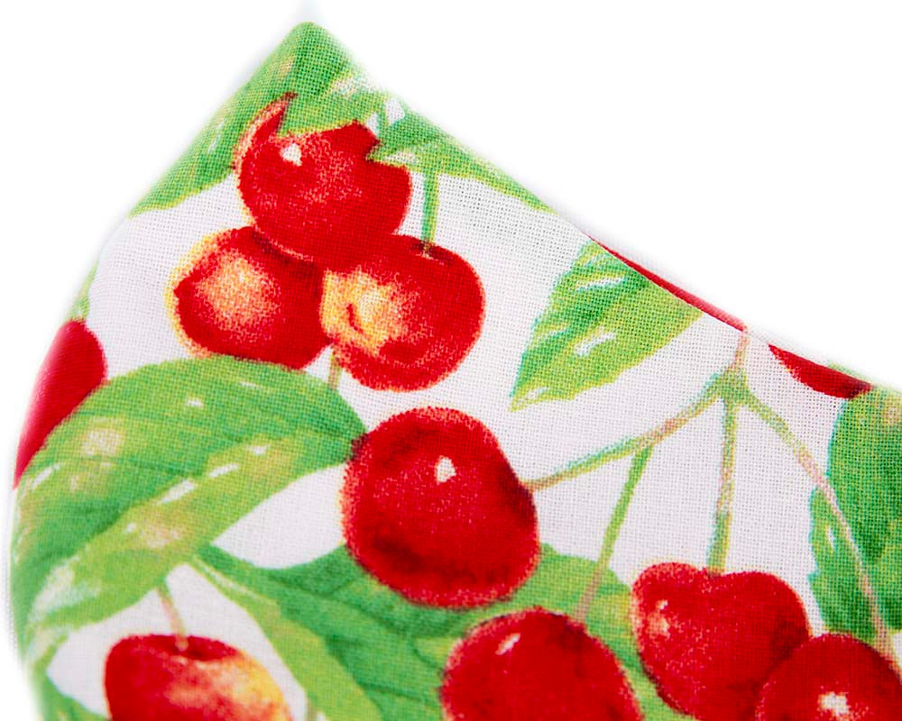 Comfortable re-usable cotton face mask with cherry print