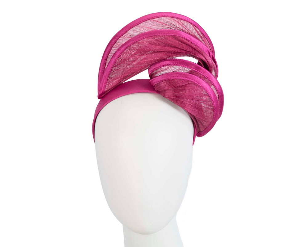 Fuchsia headband racing fascinator by Fillies Collection