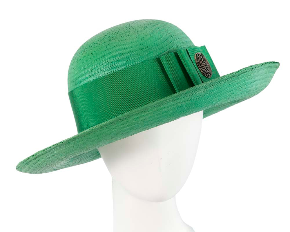 Large Green Fashion Racing Hat by Cupids Millinery