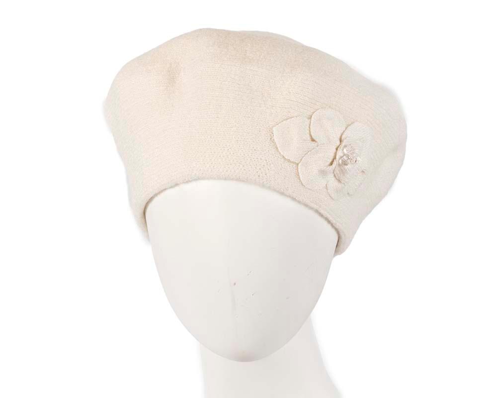European made woven crea, beret