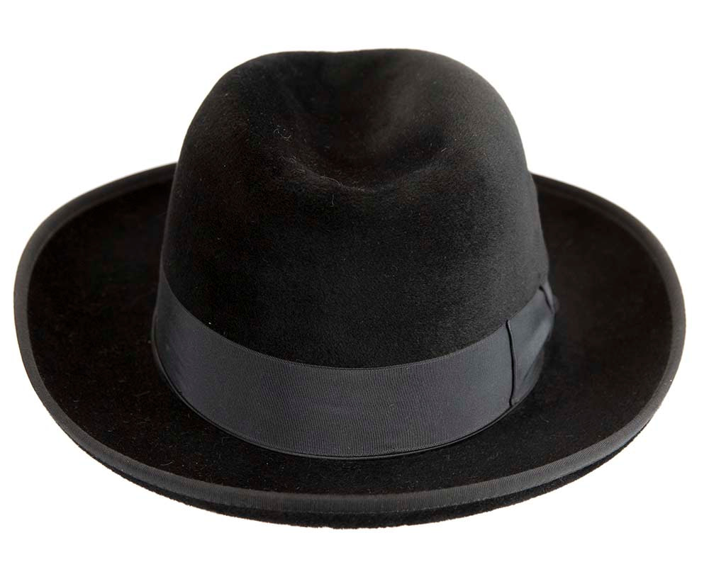 Black Jewish Hasidim rabbit fur fedora hat