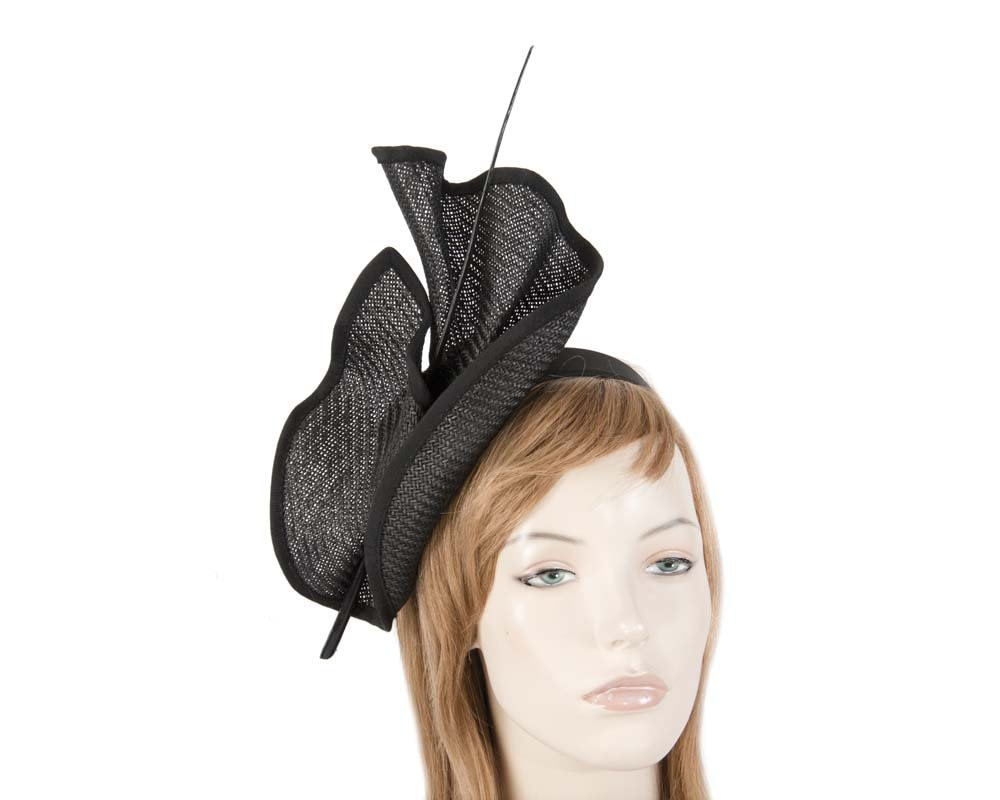 Black Max Alexander racing fascinator made in Australia MA686B