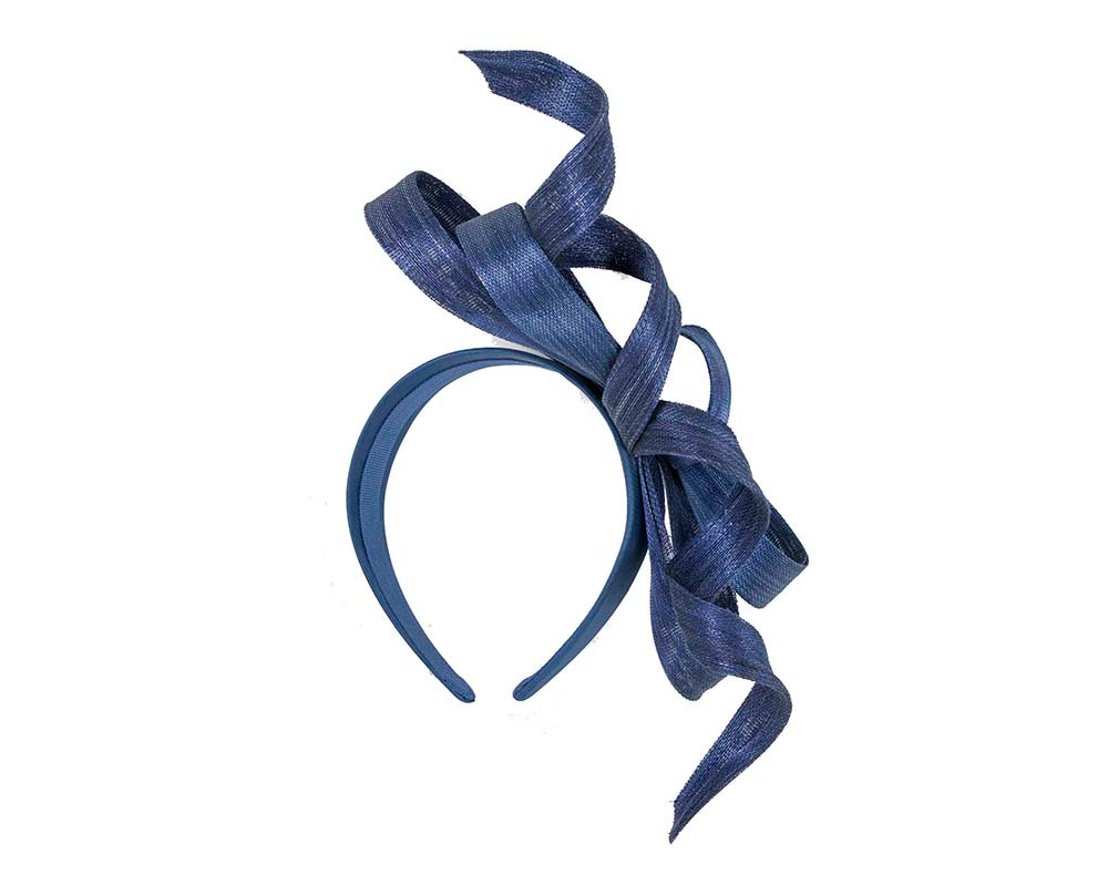 Exclusive royal blue fascinator by Fillies Collection
