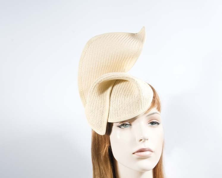 Natural fashion pillbox fascinator hat for races Max Alexander MA564N