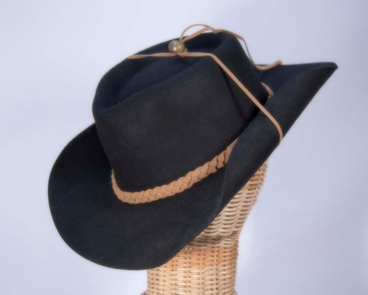 Black Australian bush wool felt hat buy online M108