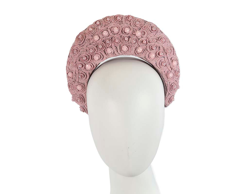 Exclusive dusty pink headband by Cupids Millinery