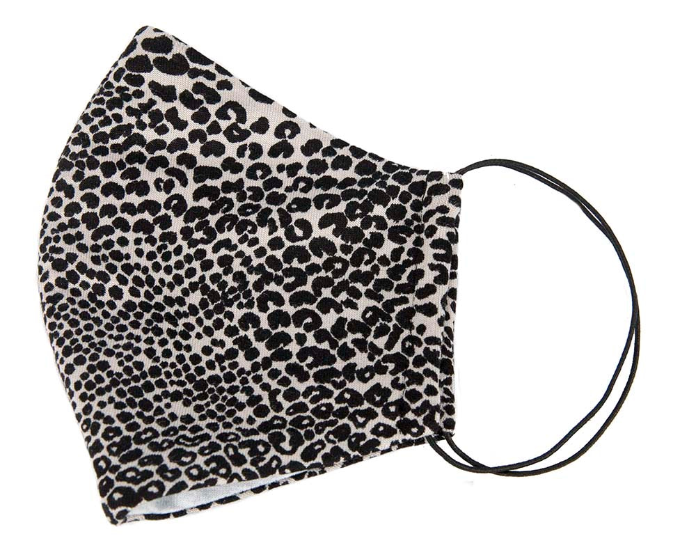 Comfortable re-usable face cotton jersey mask animal print
