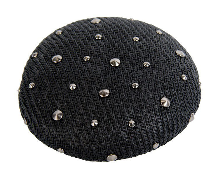 Black pillbox with studs