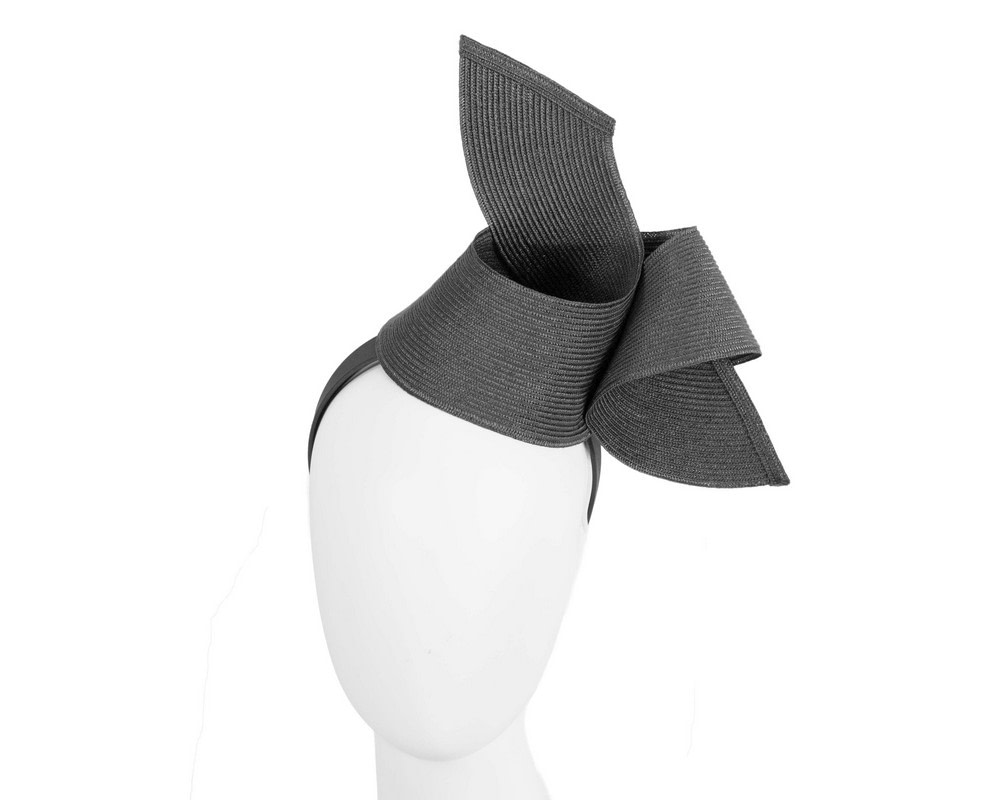 Modern black fascinator by Max Alexander