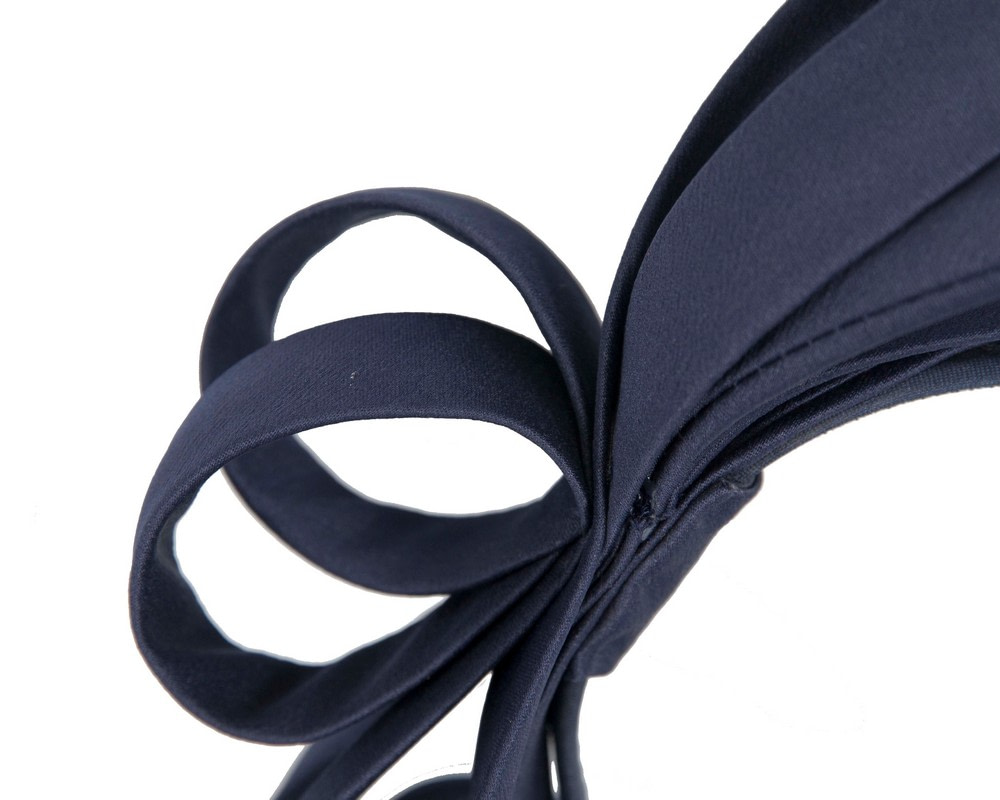 Navy bow racing fascinator by Max Alexander