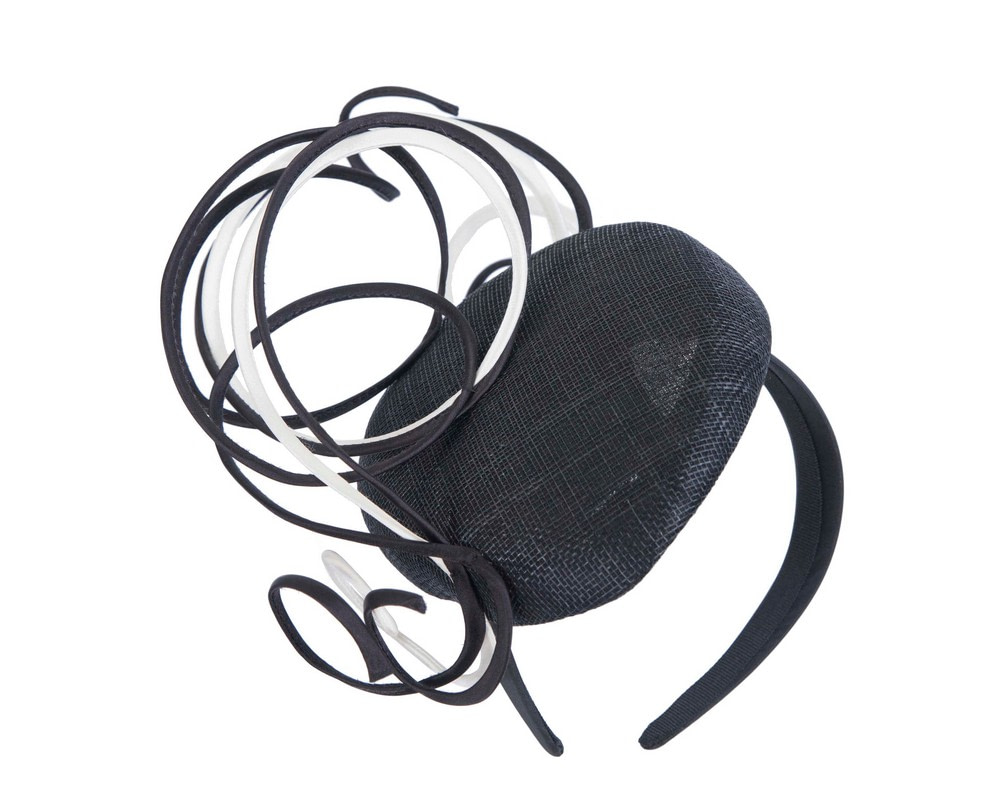 Designers black & white pillbox fascinator by Fillies Collection