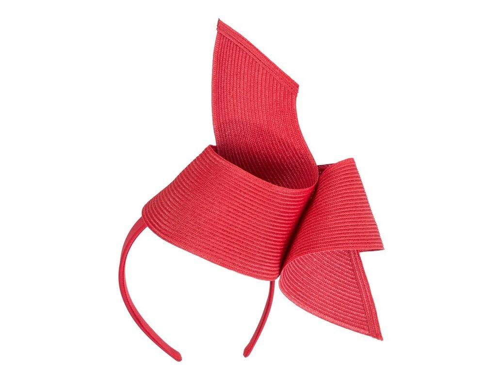 Modern red fascinator by Max Alexander