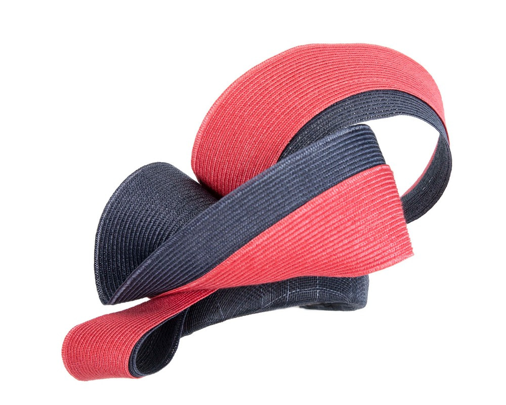 Stunning navy & red racing fascinator by Fillies Collection