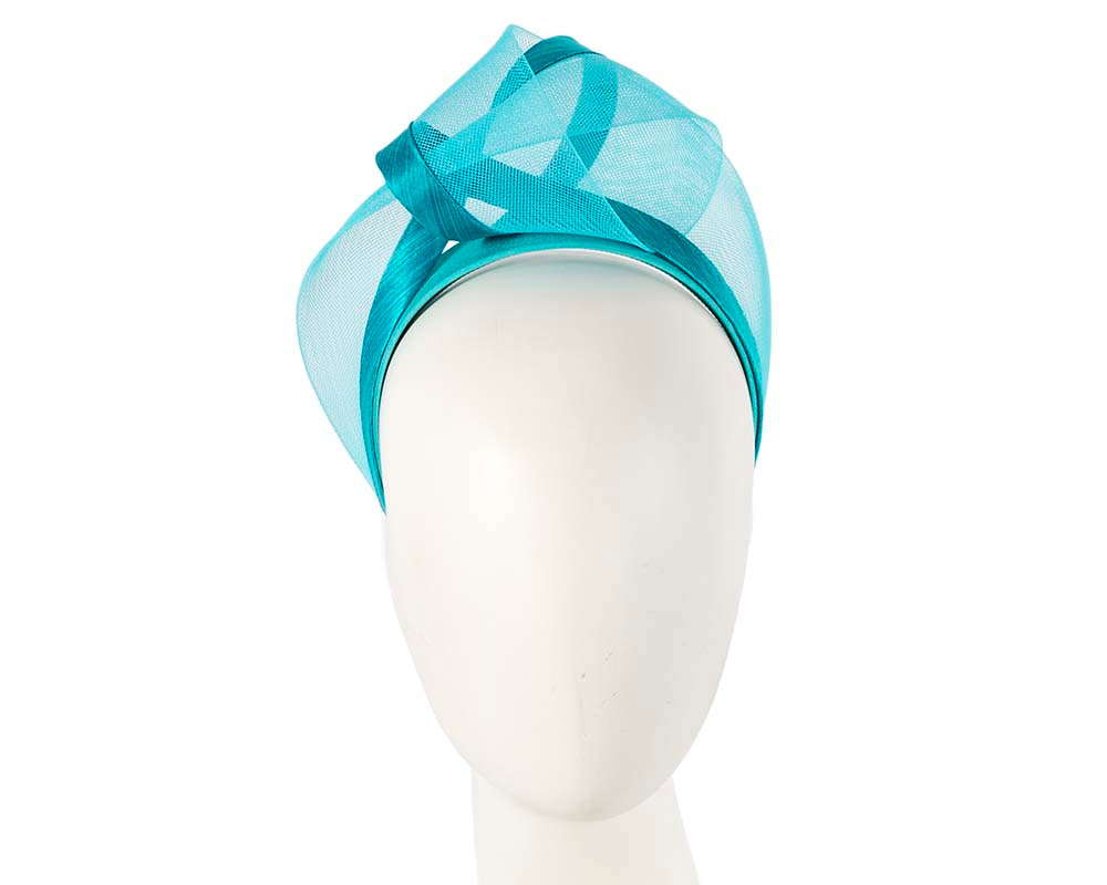Turquoise fashion headband turban by Fillies Collection
