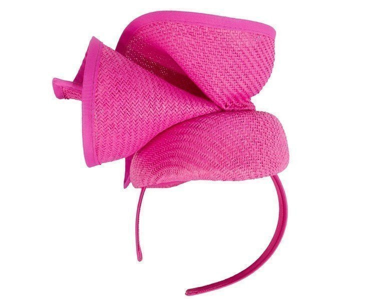 Fuchsia pillbox sculptured fascinator