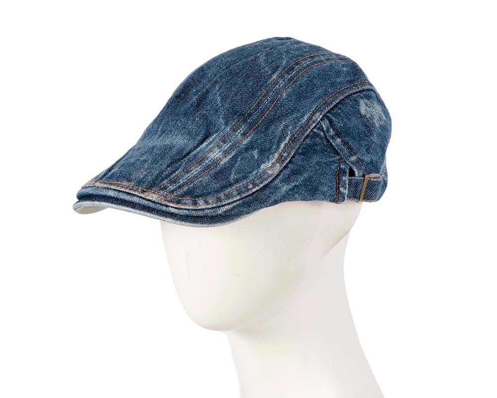 Classic denim flat cap by Max Alexander