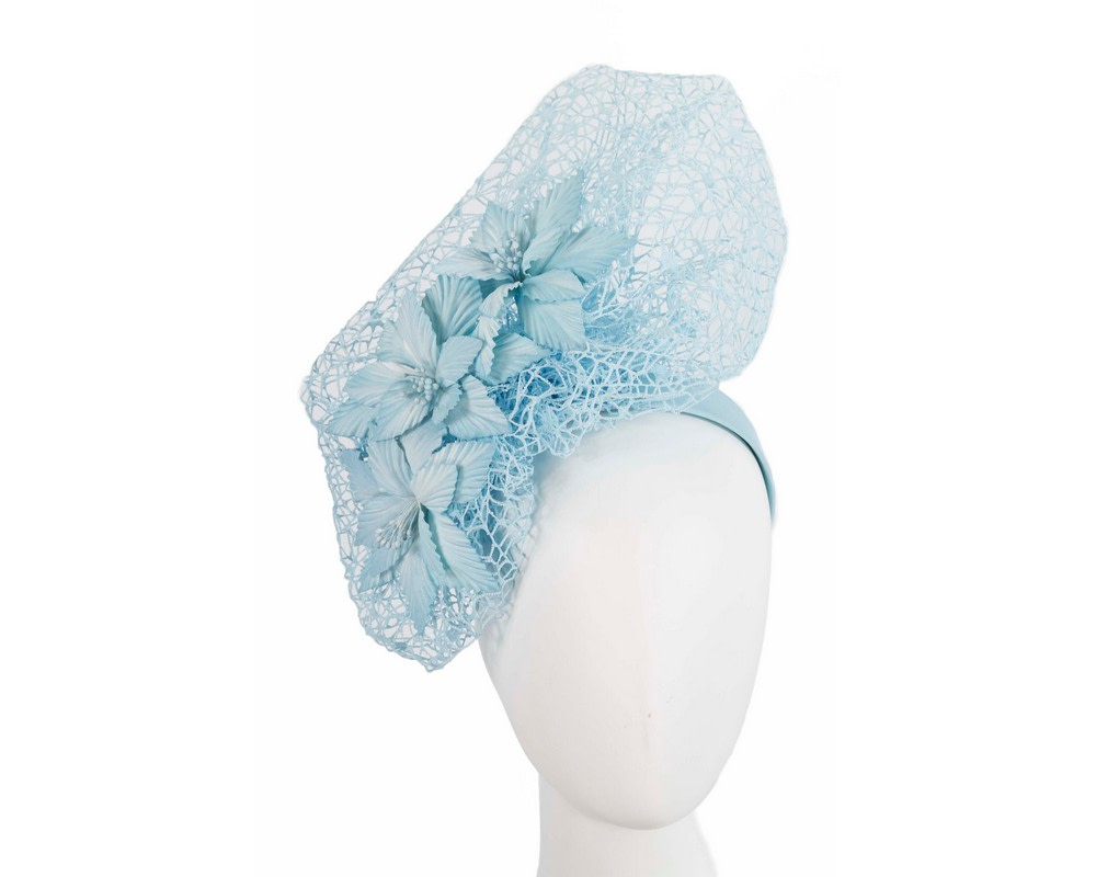 Staggering light blue racing fascinator by Fillies Collection