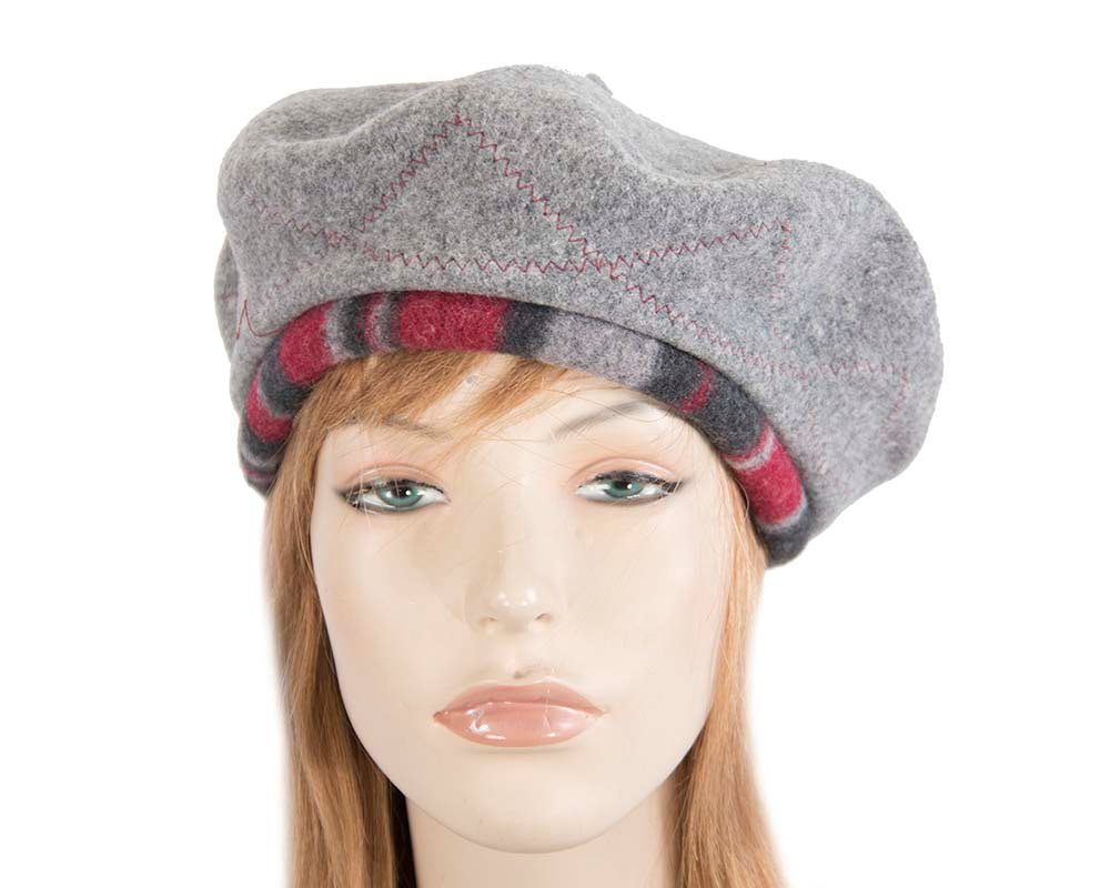 Grey winter french beret by Max Alexander