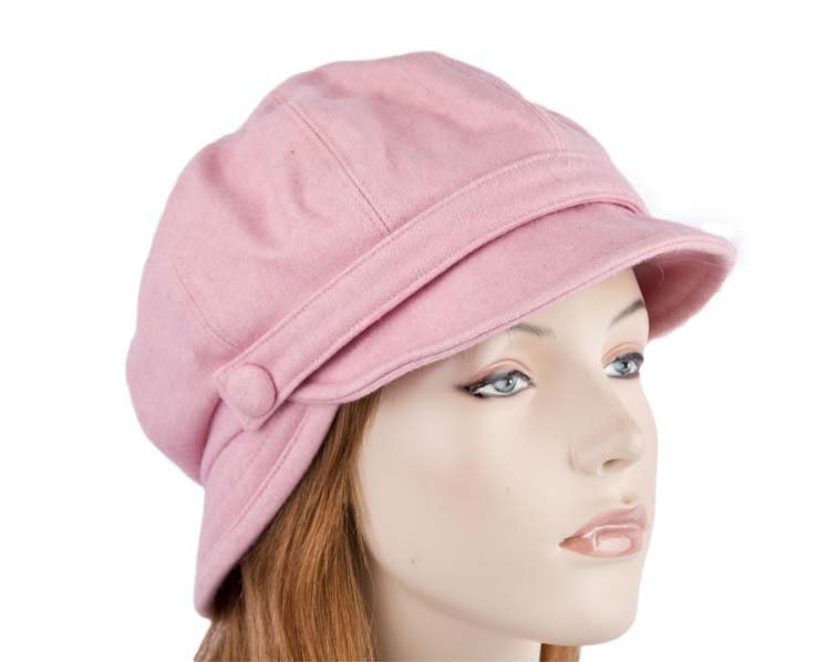 Pink winter newsboy cap SP373