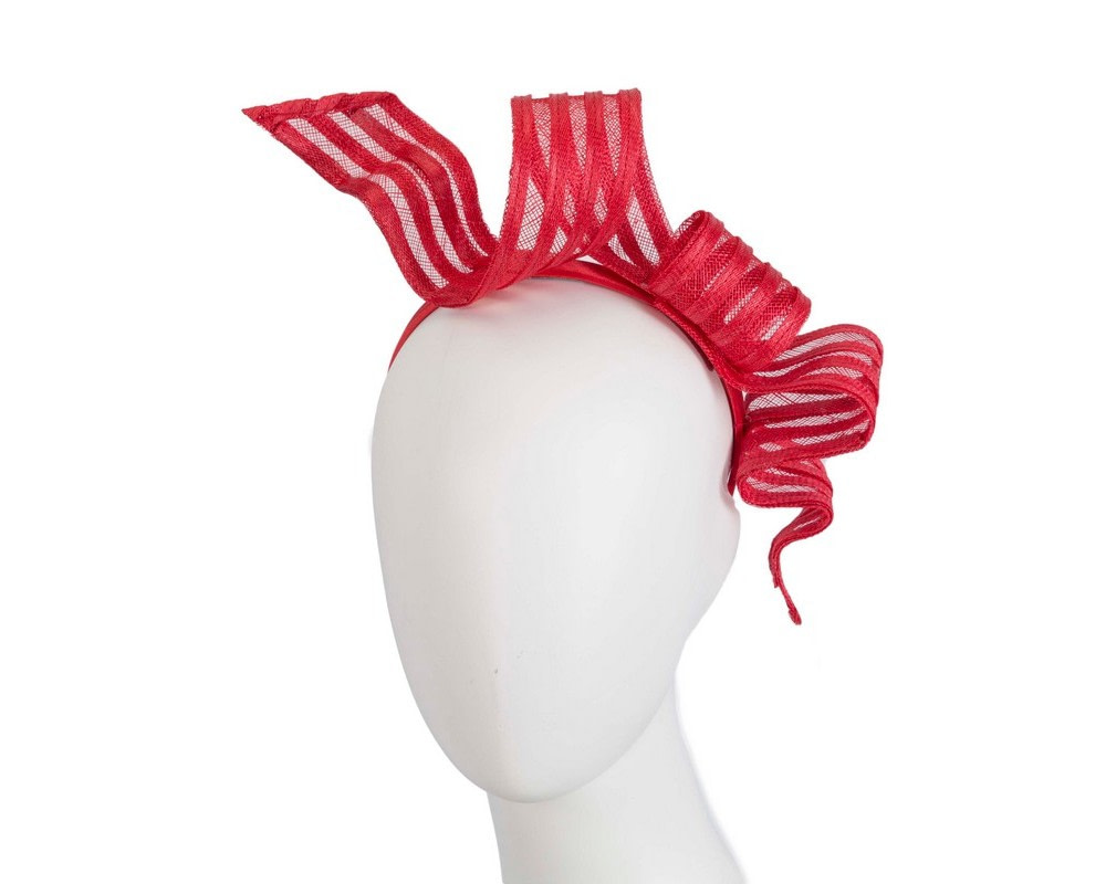Stylish red racing fascinator by Max Alexander