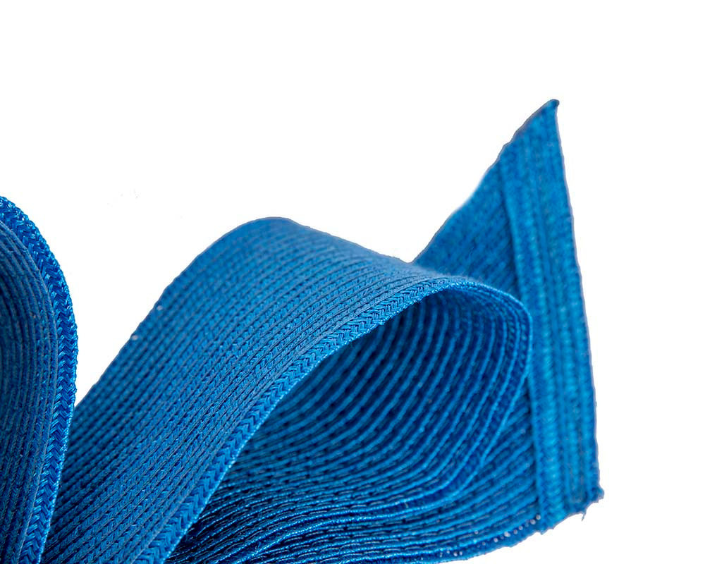 Large royal blue bow racing fascinator by Max Alexander