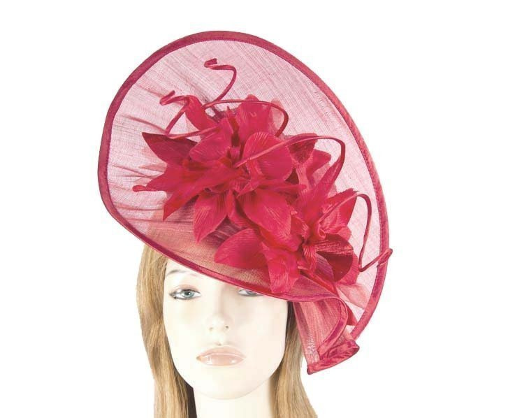 Red ladies fashion hat for Melbourne Cup Ascot Derby races buy online in Aus S970R