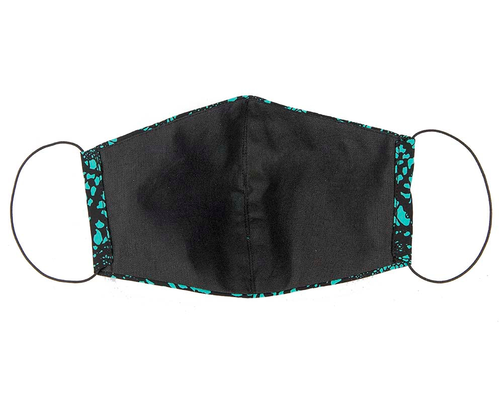 Comfortable re-usable green & black face mask