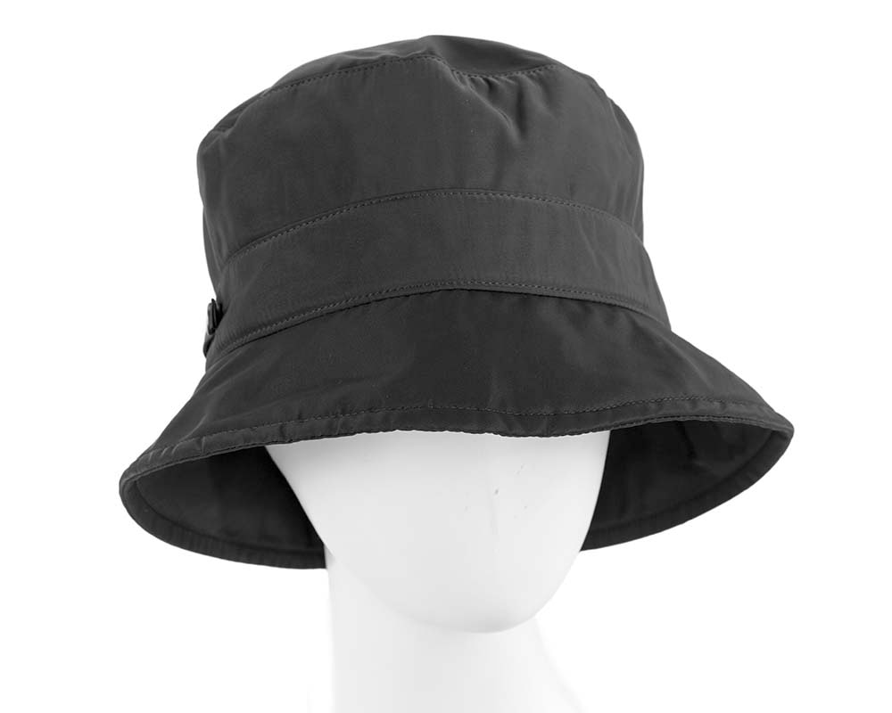 Black casual weatherproof bucket golf hat