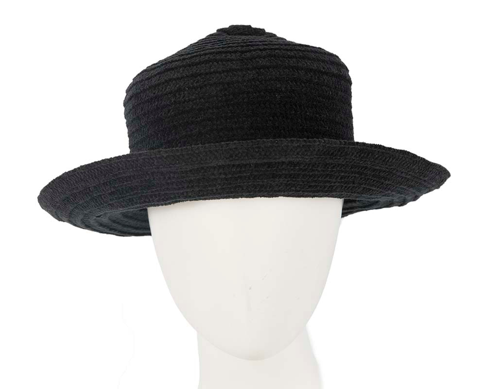 Soft black bucket hat