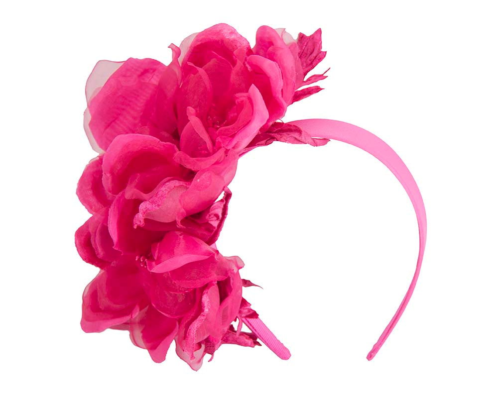 Fuchsia flower fascinator by Fillies Collection