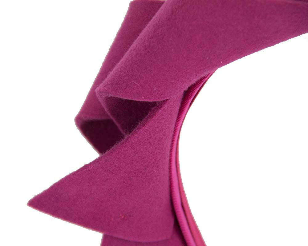 Fuchsia felt twisted fascinator headband by Max Alexander