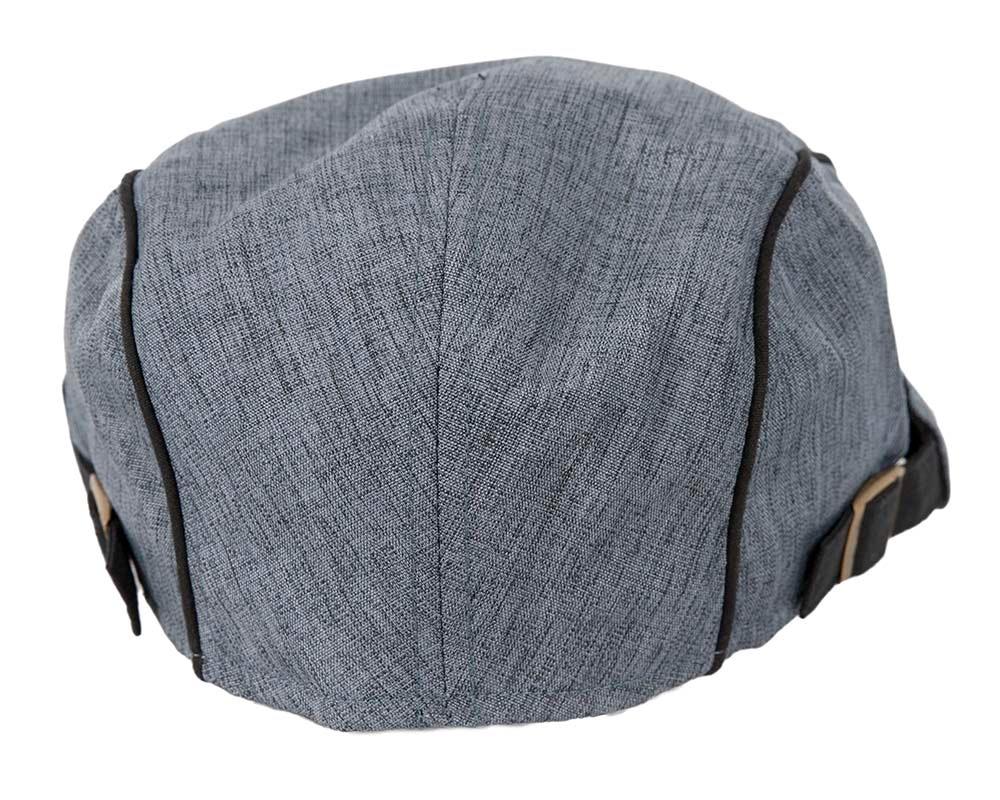 Soft denim flat cap by Max Alexander