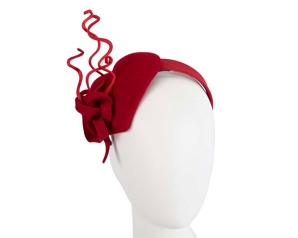 Red heart winter fascinator