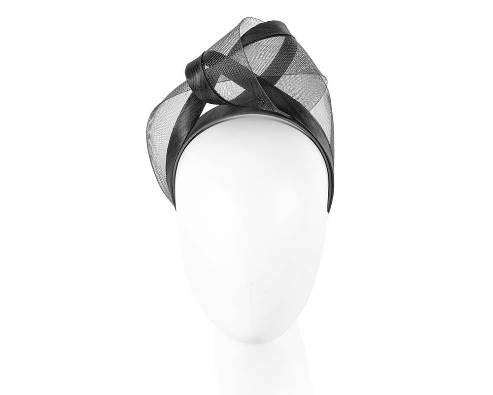 Black fashion headband turban by Fillies Collection