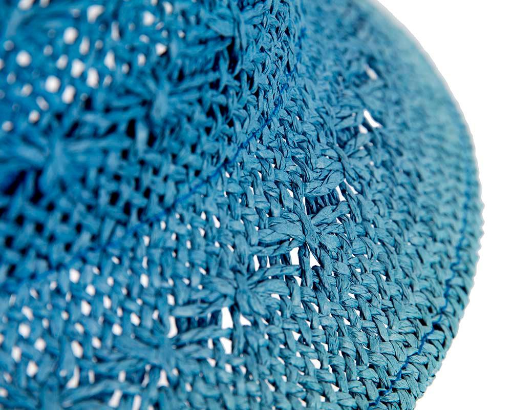Crocheted cobalt blue cloche hat