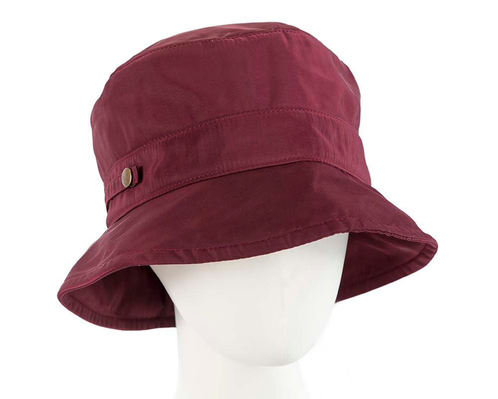 Burgundy casual weatherproof bucket golf hat