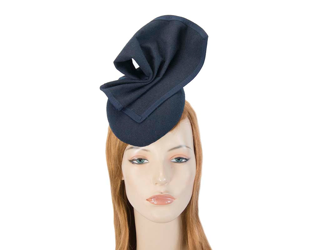 Navy pillbox hat for winter autumn racing — buy online in Australia F540N