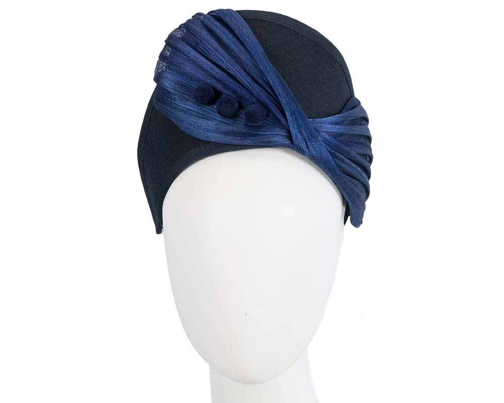 Navy & royal blue crown winter fascinator by Fillies Collection